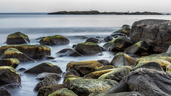 rocks (tonyguest) Tags: sea water rocks mist kollevik karlshamn sweden tonyguest 16x9 misty