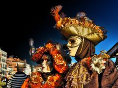 Two ladies in Venice (Marco Trovò) Tags: marcotrovò hdr venezia venice italia italy building edificio city città carnevale carnival strada street ritratto portrait gente people