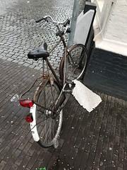 IMG_0140 (De avonturen van de Argusvlinder) Tags: gevonden gevondenvoorwerp lostfound cingelstraat breda fiets bakfiets