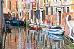 (Artypixall) Tags: italy venice boats canal buildings facade urbanscene architecture