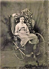 1860s Wheelchair (jackcast2015) Tags: handicapped disabledwoman crippledwoman wheelchair vintagewheelchair