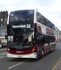 Lothian 1087 on Princes Street, Edinburgh. (calderwoodroy) Tags: enviro400xlb alexanderdennis adl b8l volvo sj19oxc 1087 service11 edinburghtransport transportforedinburgh lothianbuses lothiancity lothian lothianbusescentenary lothian100 doubledecker bus princesstreet edinburgh scotland