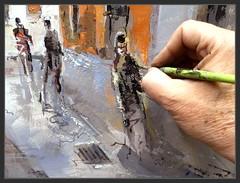 SANT FRUITÒS DE BAGES-PINTURA-DETALLS-QUADRES-PERSONES-MOVIMENT-CAMINANT-CARRER-PADRÓ-PAISATGE-URBÀ-POBLES-BAGES-CATALUNYA-FOTOS-PINTOR-ERNEST DESCALS (Ernest Descals) Tags: santfruitòsdebages pintura bages barcelona catalunya catalonia village cataluña poble pobles pueblo pueblos paisajeurbano paisajesurbanos paisatgeurbà carrerpadrós detalles details fragments pintar pintat pintando painting paintings art artwork arte movimiento personas people movement andar walk andando sereshumanos walking fotos pictures paint pintor pintors pintores painter painters pintures detalls quadres cuadros paisatges paisajes landscaping landscape plastica artistas plasticos vida cotidiana life calles luz comarcas interiores comarques winter invierno airelibre ple air plenair artistes plastics trabajo working detallar paisajistas