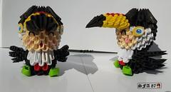 Tucano Kid Origami 3d (Samuel Sfa87) Tags: tucano origami origami3d sfaorigami sfa87 sfa suit papercraft paper arteempapel artisan arteconlacarta arte tucan papel carta crafts craft kid kids kawai criança crianças fantasia fantasiado folding