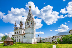 Archangel Michael Monastery (Yurev-Polskiy, Russia) (KonstEv) Tags: belfry church orthodox russia yurevpolsky bell tower dome cross cloud sky building architecture cathedral