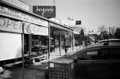 Shops, restaurants and services (Matthew Paul Argall) Tags: hanimex35es fixedfocus focusfree 35mmfilm blackandwhite blackandwhitefilm kentmerepan100 100isofilm shops restaurants services