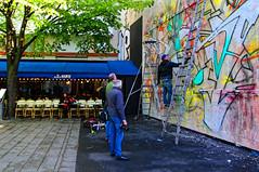 Spectacle (Edgard.V) Tags: mist streetart paris parigi urbanart arte urbano mural callejero mur wall muro parede oberkampf graffiti