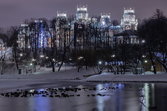 Moscow (ovlywxxe30) Tags: moscow russia night winter snow park zarizino castle palace twilight