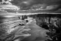 P2252155-Edit Gables to 12 Apostles-2 (Dave Curtis) Tags: victoria greatoceanroad 12 apostles blackandwhite 2014 australia em5 greatoceanwalk omd olympus places september