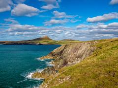 Whitesands Bay, Pembrokeshire, Wales. (hemlockwood1) Tags: whitesands bay beach pembrokeshire coastalpath surf waves carn llidi park wales cliffs craggy sand blue coast stdavids city