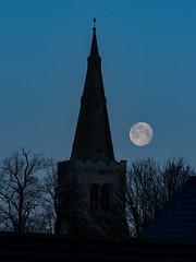 Setting Moon (davepickettphotographer) Tags: stmaryschurch buckden huntingdonshire huntingdon cambridgeshire church moon setting