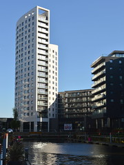 Tall building in Leeds (Tony Worrall) Tags: leeds yorkshire yorkshirephotos river wet water urban architecture building built city homes north update place location uk england visit area attraction open stream tour country item greatbritain britain english british gb capture buy stock sell sale outside outdoors caught photo shoot shot picture captured ilobsterit instragram