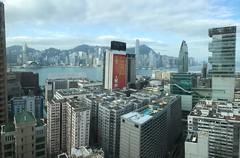 Morning view of Hong Kong Island and Victoria Harbour from Hyatt Regency Tsim Sha Tsui club lounge (procrast8) Tags: hong kong china victoria harbour