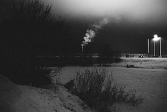 Cold night (fedorrrz) Tags: efke 35mm bessaflextm blackwhite bw winter snow cold grain pushprocess