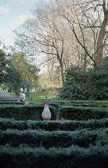 Theseus (Daire Quinlan) Tags: film 35mm agfa 200 colour c41 diy fujihunt asa200 200asa 50mm planar t f14 contax 167mt dublin iveagh garden park sundial maze labyrinth