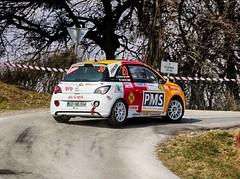 Alfred Kramer jun. Michael Uschan AUT / AUT Lema Racing Opel Adam R2 on three wheels (Dag Kirin) Tags: rally kumrovec 2019 alfred kramer jun michael uschan aut lema racing opel adam r2 three wheels