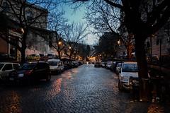 Una via di Trastevere nell'ora blu (giorgiorodano46) Tags: febbraio2016 february 2016 giorgiorodano roma italy trastevere viagaribaldi bluehour orablu twilight