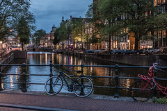 Postcard from Amsterdam (PhredKH) Tags: amsterdam canon canoneos canonphotography ef2470mmf4lisusm fredkh photosbyphredkh phredkh travelphotography city bicycles canoneos5dmarkiii nightphotography nightscene amsterdamcanals