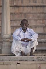 0938 Pushkar Old Man III (Hrvoje Simich - gaZZda) Tags: outdoors people man old siting portrait indian india asia travel nikon nikond750 sigma150500563 gazzda hrvojesimich