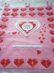 countdown for Valentine´s day (katuchabatkivna) Tags: valentine valentine´sday countdown love handnade etsy felt fieltro sanvalentin heart corazón
