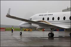 T-729 Beech 1900D Swiss Air Force (elevationair ✈) Tags: bal eime military aerodrome airport baldonnel baldonnelaerodrome swissairforce prop twinprop t729 beech 1900d beech1900d avgeek aviation airplane plane aircraft arrival apron patrouillesuisse dull rain overcast casement casementaerodrome