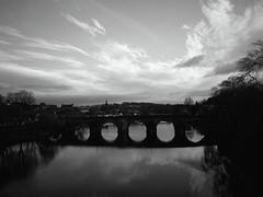 Devorgilla Noir (bigalid) Tags: digital yashica y35 fixedfocus december 2018 devorgilla bridge nith river dumfries
