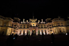 Waddesdon By Night (6079 Jones, P) Tags: img2102 building architecture canon eos 1200d tamronsp1024mm wideanglelens nightphotography lowlight waddesdonmanor nationaltrust statelyhome aylesbury buckinghamshire mansion christmas 2018 rothschild england uk convergingverticals