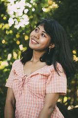 Zuzu II (KamrenB Photography) Tags: kamgtr kamrenb portrait portraiture dress girl smile asia thailand asian chiang mai chiangmai smiling bokeh canon 6d evening trees green up teeth happy pretty