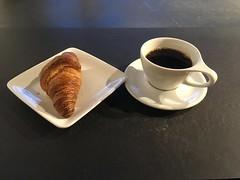 croissant and coffee (rotabaga) Tags: sverige sweden göteborg gothenburg kaffe coffee café iphone