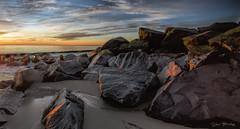 Sunrise Striking Battery Herring Jetty (stevebfotos) Tags: batteryherring ftmiles capehenlopen lewes delaware atlantic water sunrise