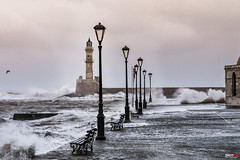 Old Harbour (Snoopix_) Tags: sony a6000 a6k ilce6000 70200 gseries oldharbour chania crete greece windy waves lighthouse