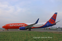 B737-8KN N832SY SUN COUNTRY (shanairpic) Tags: jetairliner passengerjet b737 boeing737 shannon iac suncountry flydubai n832sy a6fdp