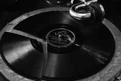 Broken Record (The Vintage Lens) Tags: 78 rpm record broken vintage victrola old bw monochrome