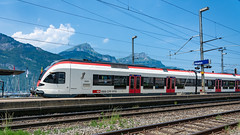 SBB RABe 521 013 Fluelen 16 July 2015 (2) (BaggieWeave) Tags: switzerland swisstrains swissrailways sbb cff ffs fluelen rabe521 gotthardrailway gotthard gotthardbahn