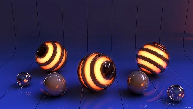 Обои шары, свет, поверхность, линии, фон картинки на рабочий стол, фото скачать бесплатно