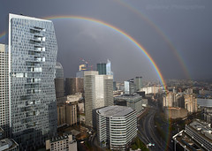 Double Arc en ciel (Julianoz Photographies) Tags: nikon nikonfr nikonclub nikonfrance julianozphotographies paris france europe ladéfense idf gibouléédemars arcenciel doublearcenciel rainbow doublerainbow buildings building architecture îledefrance immeubles meteofrance meteoparis meteo weather bâtiment banlieueparisienne banlieue 92 hautdeseine tourfirst tourmajunga storm rainshaft great paysageurbain cityscape capitale city capital architecte suburbofparis quartierdesaffaires quartier districtquarter cité ville villelumière vueaerienne businessquarter mood rain pluie rideaudepluie
