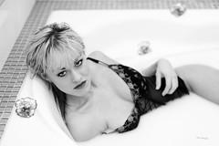 Milk bath (piotr_szymanek) Tags: ania aniaz portrait studio blackandwhite milk bath bathtube bathroom flower face eyesoncamera nobra transparent lingerie 1k 20f 50f 5k 10k