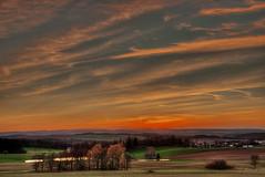 Schilbach (GerWi) Tags: schilbach thuringia abenddämmerung sunset himmel sky clouds fields felder
