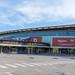 Außenansicht von Europas größtem Fußball-Stadion Camp Nou in Barcelona, Spanien