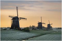 Cold spring morning at Leidschendam (Rob Schop) Tags: sonya6000 sony55210oss windmill leidschendam pola hoyaprofilters handheld molendriegang zuidholland dutch rijp cold sunrise morning lrcc kitlens
