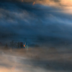 The Song of Sunrise. (Bonnie And Clyde Creative Images) Tags: landscape poland europe mountains mist canon sunrise