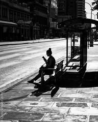 Bus stop silhouette (MoiVous) Tags: cbd streetlife sundaynight places adelaide rundlemallprecinct