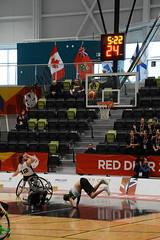 Kate Ruiz - 2019 02 19 Wheelchair Basketball QC vs. SK 14 (Kate in a Corner) Tags: player falling injury