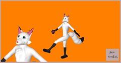 Artic Fox- Flea Market (clarissastring) Tags: avatars fox artic white animals articfox unisex secondlife carnival flea market
