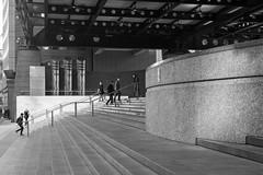 Exchange House (cybertect) Tags: broadgate carlzeissplanart50mmf14mm cityoflondon ec2 exchangehouse london londonec2 som skidmoreowingsandmerrill sonya7ii architecture blackwhite blackandwhite building granite monochrome steps