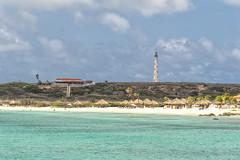 Just a lighthouse (mystero233) Tags: aruba island caribbean onehappyisland beach lighthouse sea water sand hill outdoor landscape clouds sky holiday sail travel traveller sun sunny
