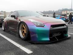 2012 Nissan GT-R (splattergraphics) Tags: 2012 nissan gtr slammed customcar carshow huntvalleyhorsepower huntvalleytownecentre huntvalleymd