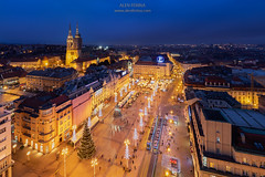 Zagreb city center decorated during the Advent, Croatia (Alen Ferina photography) Tags: zagreb croatia hrvatska europe europeanunion eu winter evening capital urban urbanscape architecture center square centralsquare mainsquare tram night bluehour panorama panoramic panoramicview elevated elevatedview belvedere promenade corso trgbanajelacica monument banjelacicmonument roofs skyline centre outdoors fontaine buildings nightlife traffic cathedral church romancatholic catholic city citylights town downtown lowertown advent christmass xmass decoration decorated landscapeoriented horizontaloriented