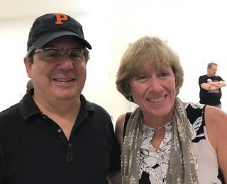 The Miami Herald's Andres Viglucci and Linda Robertson at Emerson Dorsch Gallery in Little Haiti