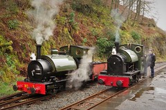 Steam pairing (Sundornvic) Tags: steam train locomotive rail railway wales mist rain green preservation heritage